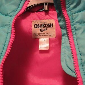 OshKosh B'gosh Jackets & Coats - Oshkosh Turquoise Zip Girls Vest Size 5 Like New